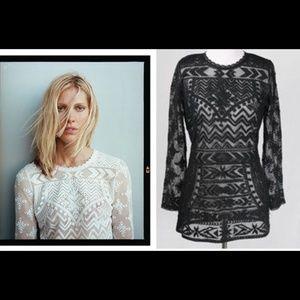 Isabel Marant x H&M white lace tunic size S